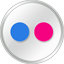 Flickr White Icon 64x64 png