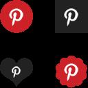 W3Bits Pinterest Icons