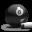Billiards 8-Ball Grey Icon 32x32 png