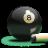Billiards 8-Ball Colored Icon 48x48 png