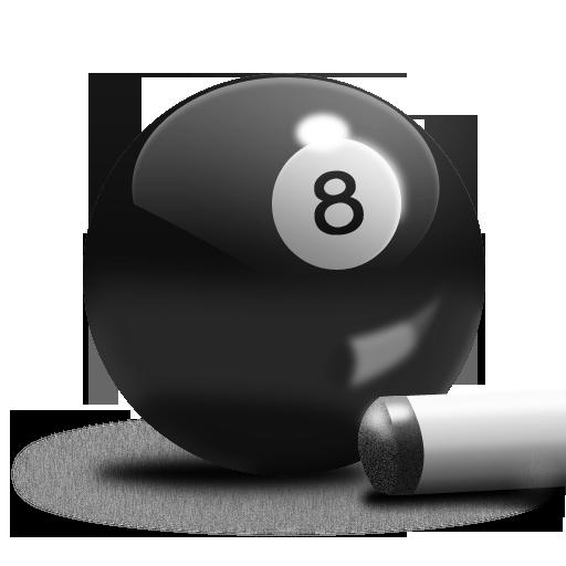 Billiards 8-Ball Grey Icon 512x512 png
