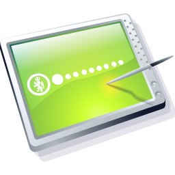 Tablet Lime Icon 256x256 png