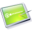 Tablet Lime Icon 64x64 png