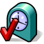 BeOS Clock Settings Icon 64x64 png