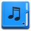 Places Folder Music Icon 64x64 png
