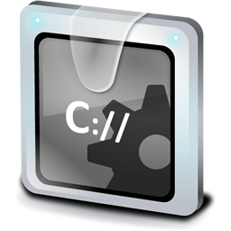 File MS-DOS Application Icon - Bluegray Icons - SoftIcons com