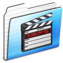 Movie Folder Stripe Icon