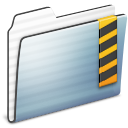 Security Folder Graphite Stripe Icon 128x128 png
