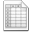 Mimetypes Spreadsheet Icon 32x32 png