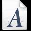 Mimetypes Font Truetype Icon 64x64 png