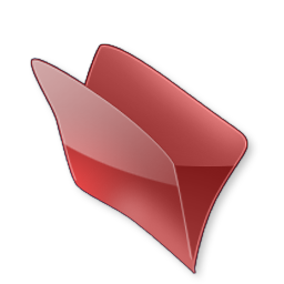 Dossier Rouge Icon 256x256 png
