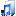 Filesystems Folder Music Icon 16x16 png