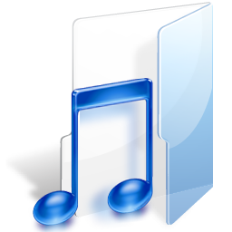 Filesystems Folder Music Icon 256x256 png