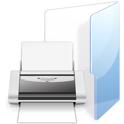 Filesystems Folder Print Icon 256x256 png