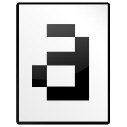 Mimetypes Font Bitmap Icon 256x256 png