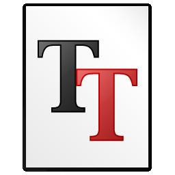 Mimetypes Font Truetype Icon 256x256 png