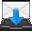 Filesystems Folder Inbox Icon 32x32 png