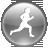 Apps Click-N-Run Grey Icon