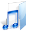 Filesystems Folder Music Icon 64x64 png