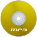 Mp3 Yellow Icon 128x128 png