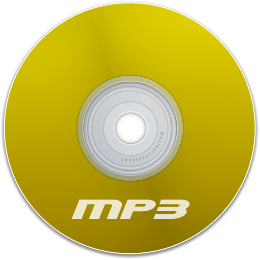 Mp3 Yellow Icon 512x512 png