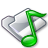 Filesystems Folder Sound Icon 48x48 png