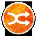 Stock Media Playlist Shuffle Icon