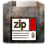 Devices Media ZIP Icon