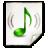 Mimetypes Audio MP3 Icon 48x48 png