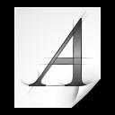 Mimetypes Application X Font Type 1 Icon