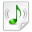 Mimetypes Audio X Mpegurl Icon 32x32 png