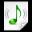 Mimetypes Audio X Scpls Icon 32x32 png