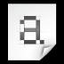 Mimetypes Font Bitmap Icon 72x72 png