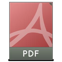 Mimetypes Application PDF Icon 256x256 png