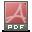 Mimetypes Application PDF Icon 32x32 png