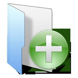 Folder Blue Add Icon - iKons Icons - SoftIcons.com