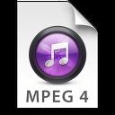 iTunes MPEG4 Purple Icon