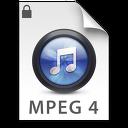 iTunes MPEG4P Blue Icon