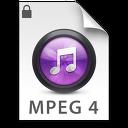 iTunes MPEG4P Purple Icon