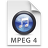 iTunes MPEG4 Blue Icon