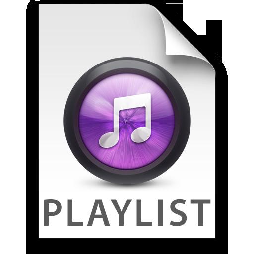 iTunes Playlist Purple Icon 512x512 png