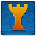 Blue Chess Tower Coloured Icon