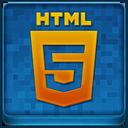 Blue HTML5 Coloured Icon