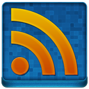 Blue RSS Coloured Icon