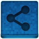 Blue Share Icon 128x128 png