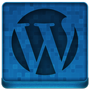 Blue WordPress Icon
