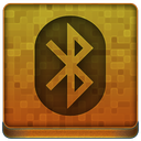 Orange Bluetooth Icon