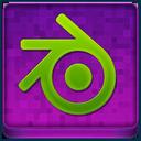 Pink Blender Coloured Icon