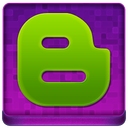 Pink Blogger Coloured Icon