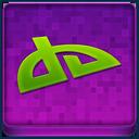 Pink deviantART Coloured Icon